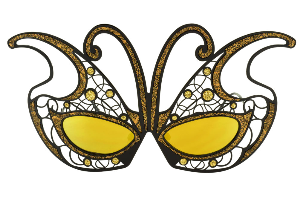 Limited Edition: Fantasy Mask Papillion available in colors Gold (seen above), Black, White