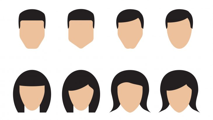 Face Shapes Vector Art